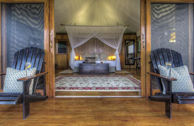 Spacious, twin-bedded safari tents
