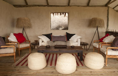 Styled by Jo Cooke, with furniture made entirely in Tanzania by her husband George, Lamai has a unique and substantial look - both fresh and warm.  The furniture was made by former street-boys who have been trained up by expert furniture-maker, George.